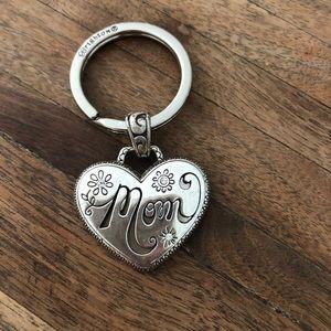 Brighton silver mom keychain